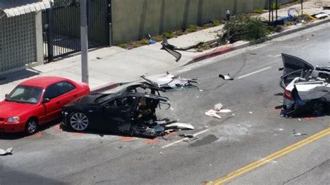 Tesla Wreck More Images From Tesla Model S Crash In West