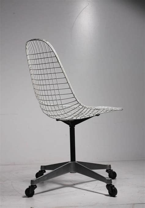 Wire Desk Chair by Early Charles Eames Pkc Wire Rolling Task Chair For Herman