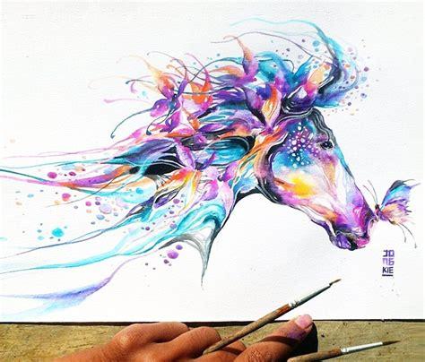 pinterest tattoo watercolor horse watercolor by jongkie art artwork pinterest