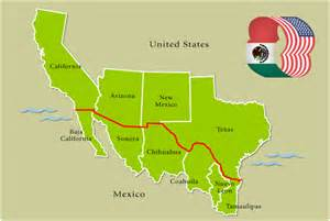 Mexico Usa Border Map by Map Of Usa And Mexico Border