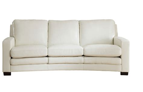 joanna top grain ivory white leather sofa
