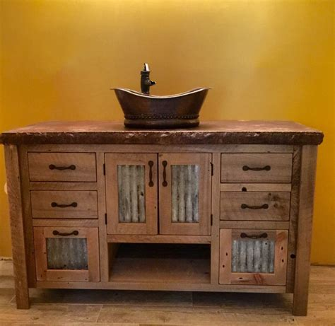 reclaimed barn wood bathroom vanity barnwood vanity bathroom