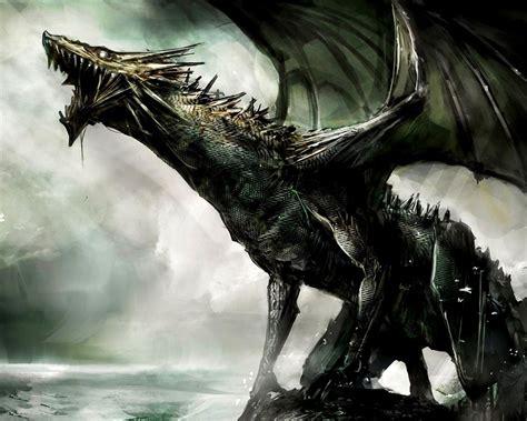 ferocious dragon dragon theme artistic design wallpaper