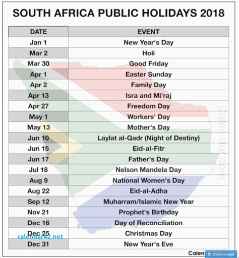 printable calendar south africa 2018 awesome printable calendar 2016 rsa calendar