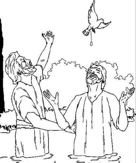 coloring page of jesus being baptized 13 best baptism images on pinterest baby prince bucket