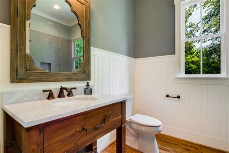 white beadboard bathroom vanity