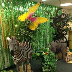 dekoration dschungel vbs jungle theme decorations vbs 2015