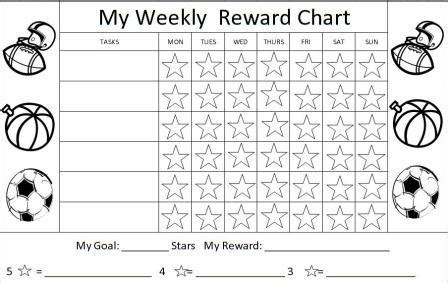 printable reward charts sticker charts kids charts