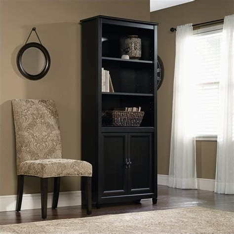 black library bookcase library bookcase in estate black 409046