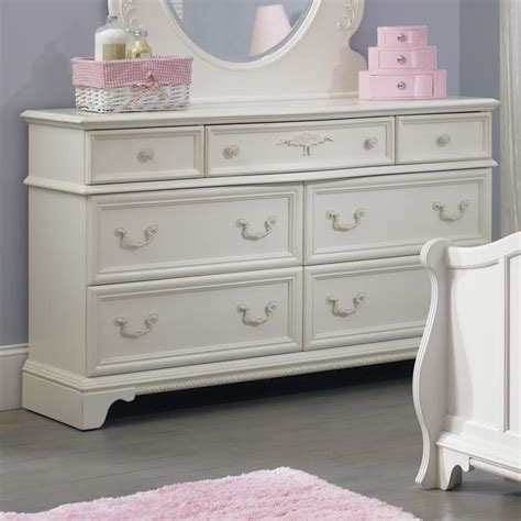 arielle youth bedroom 7 drawer dresser with felt lined top