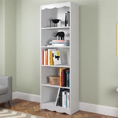 Corliving Hawthorn 72 In Frost White Tall Bookcase Lhn 72 White Bookcase