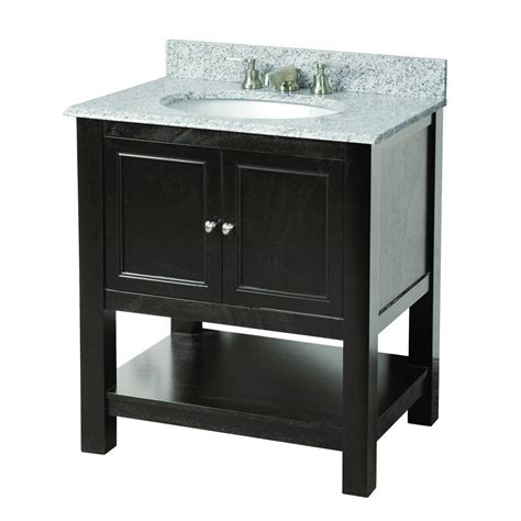 Vanity Granite by Foremost Gazette 31 In W X 22 In D Vanity In Espresso