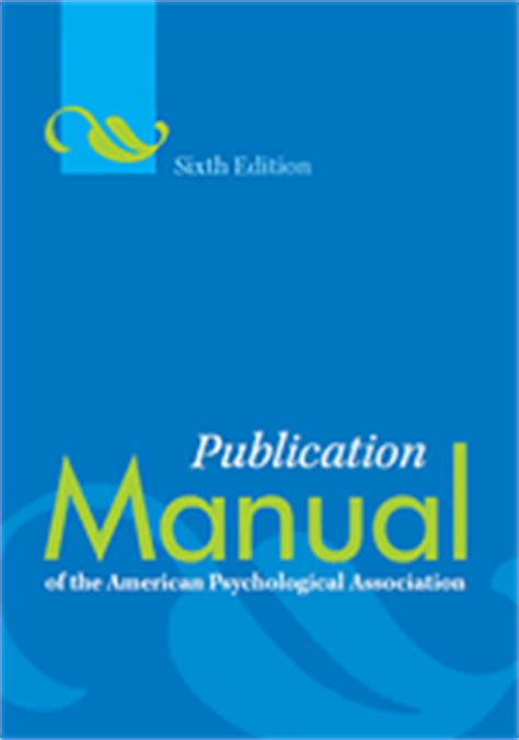 apa reference book with editions publication manual of the american psychological