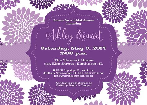 purple baby shower invitation templates purple bridal shower invitations purple butterfly bridal