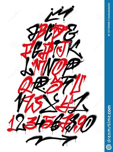 graffiti alphabet stock vector illustration  sketch