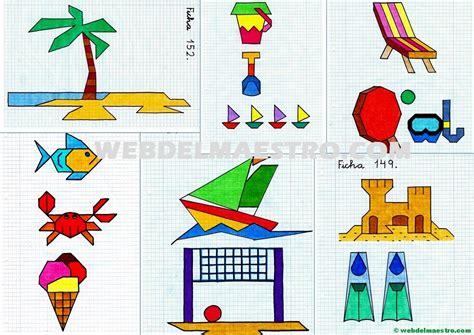 web del maestro figuras geometricas web del maestro dibujos en cuadr 237 cula sobre la playa