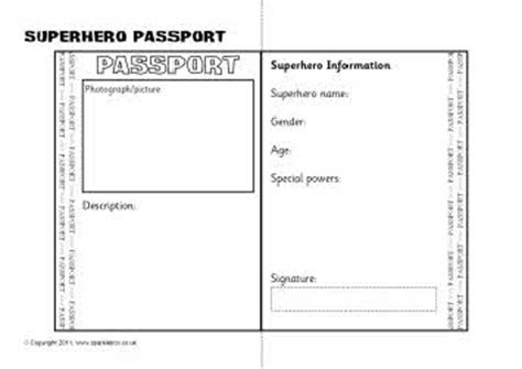 activity pass card template passport writing frame sb4132 sparklebox
