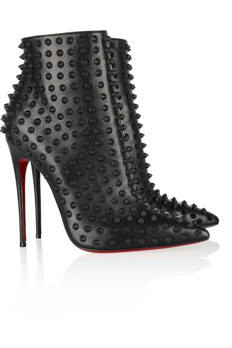 louboutin boots for lyst christian louboutin snakilta 120 spiked leather