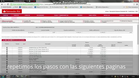 banco santander cuentas online banco santander rio online home banking flisol home