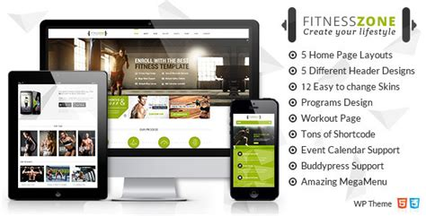themes zone download fitness zone v1 2 wordpress theme free download