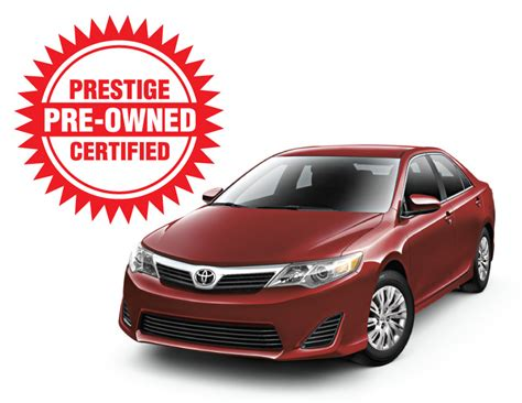 Certified Pre Owned Toyota Prestige Certified Pre Owned Toyota Vehicles Offer World
