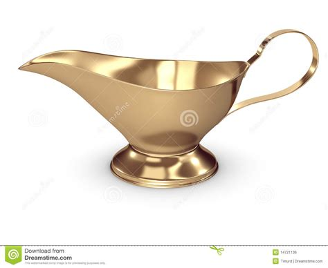 xl gravy boat gold gravy boat stock illustration illustration of
