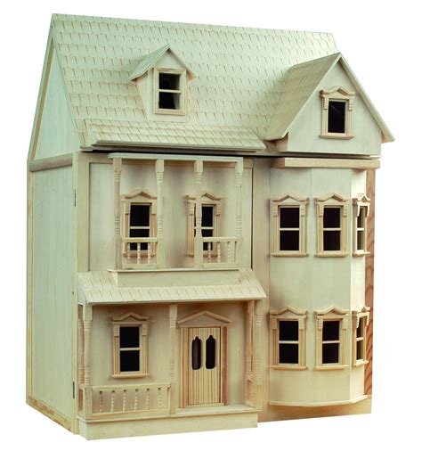 large wooden dolls house le wooden toy buy victorian 1 12th scale wooden doll house