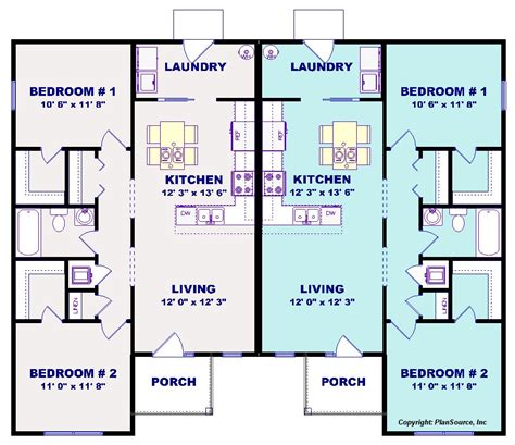 j2070 house plans by plansource inc duplex house plan j1019 16d plansource inc