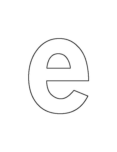 lowercase letter e pattern use the printable outline for