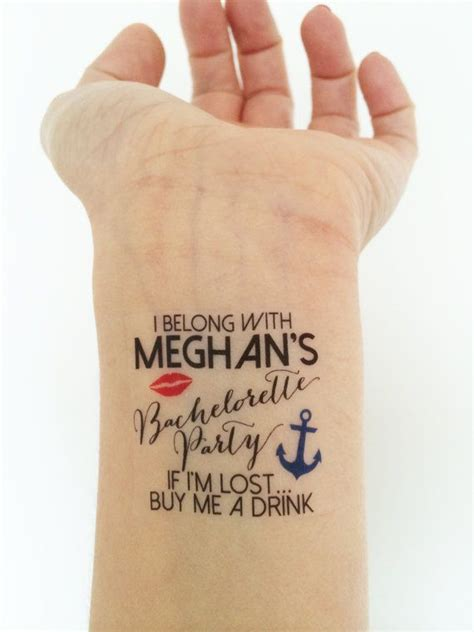 bachelorette temporary tattoos custom bachelorette temporary tattoos nautical