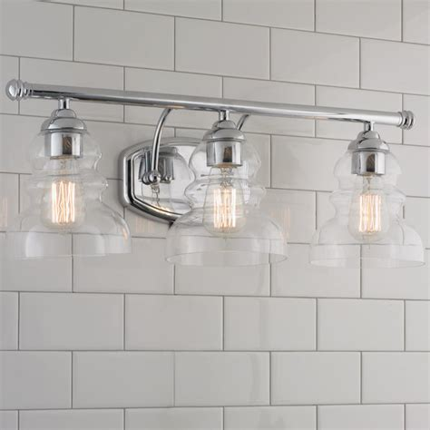 Modern Bathroom Light Shades Modern Ridged Shade Bath Sconce 3 Light Shades Of Light