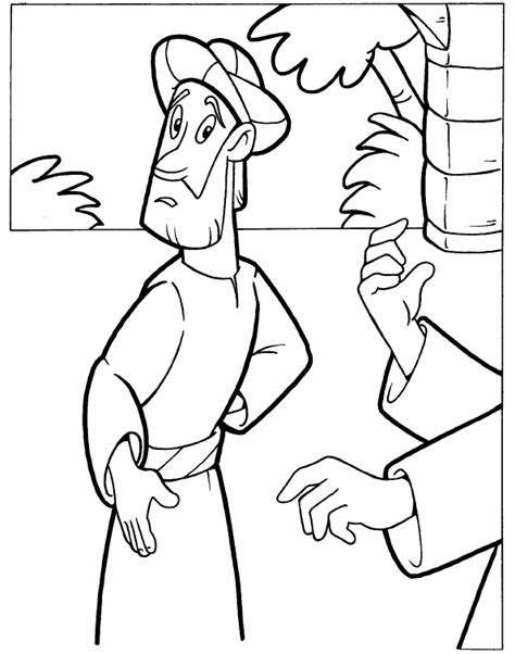rich young man coloring page