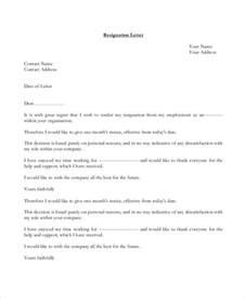 work resignation template 10 work resignation letter free word pdf documents