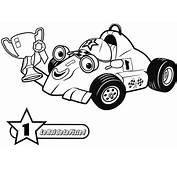 Roray The Racing Car  Free Coloring Pages