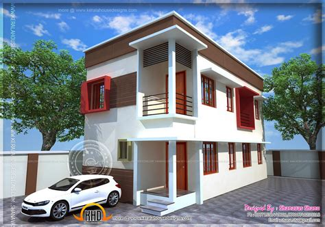 modern home designs small plot villa in 2 75 cents of land