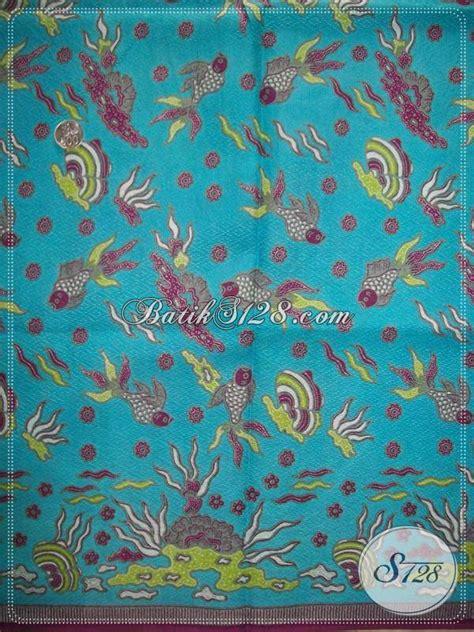 bahan batik motif kupukain batik warna biru langitkain