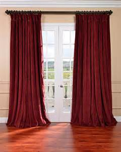 Blackout Velvet Curtains Burgundy Velvet Blackout Wide Curtain Panel Curtains By Overstock