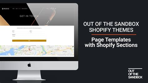 shopify themes out of the sandbox out of the sandbox page templates with shopify sections