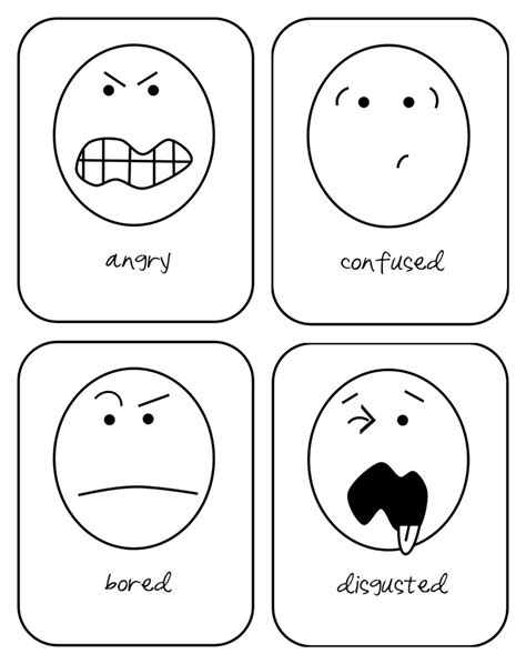 printable emotion faces card feelings flash cards printable pictures to pin on