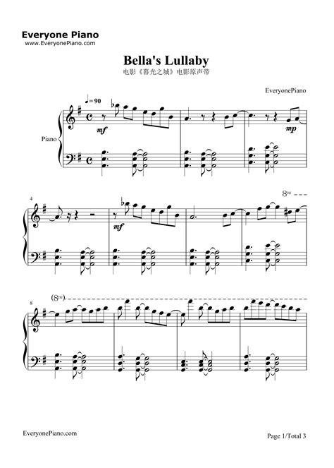 tutorial piano bella s lullaby bellas lullaby klaviernoten bellas lullaby klaviernoten