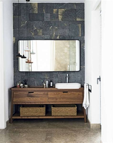 Bathroom Furniture And Accessories Best 25 Wooden Bathroom Vanity Ideas On Pinterest Tiled Bathrooms Bathroom Ideas And Cement