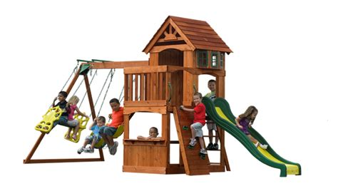 swing and playsets outdoor wooden backyard atlantis kids playset swingset