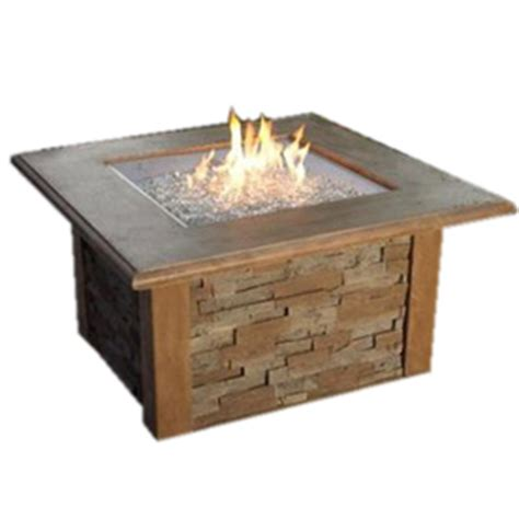 Lowes Outdoor Propane Fireplace by Shop Outdoor Greatroom Company 80 000 Btu 48 In Mocha