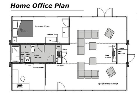 Home Office Floor Plan | modern home office floor plans for a comfortable home