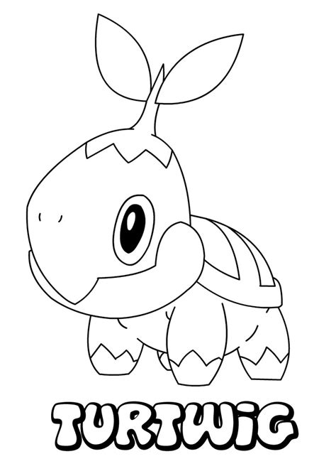 pokemon coloring pages turtwig turtwig coloring pages hellokids com