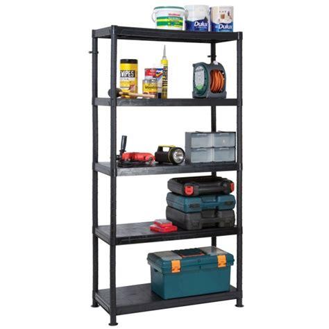 self assembly plastic shelving 5 shelf unit 90cm l x 40cm