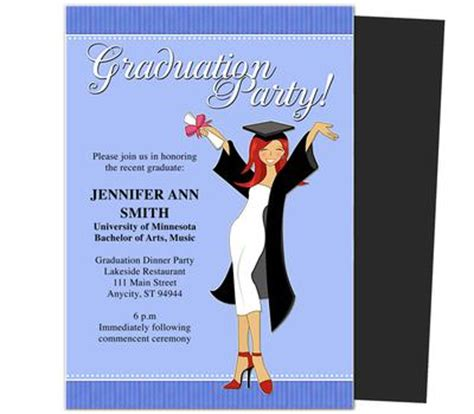 word templates for graduation party invitations visitors homemade graduation invitations