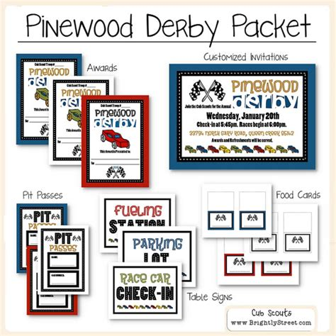 pinewood derby drivers license template cub scouts pinewood derby packet