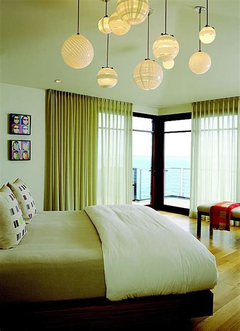 smartgirlstyle master bedroom makeover lighting cluster light pendants to give the illusion of a
