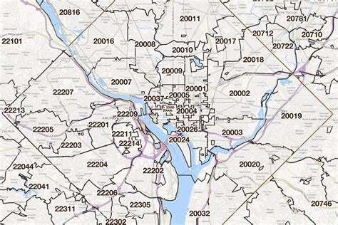 dc zip code map washington zip code map afputra